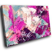 AB1638A Framed Canvas Print Colourful Modern Abstract Wall Art - pink white paint smear-Canvas Print-WhatsOnYourWall