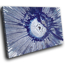 AB1639A Framed Canvas Print Colourful Modern Abstract Wall Art - blue splash effect-Canvas Print-WhatsOnYourWall