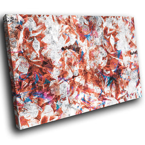 AB1645A Framed Canvas Print Colourful Modern Abstract Wall Art - brown blue splatter effect-Canvas Print-WhatsOnYourWall