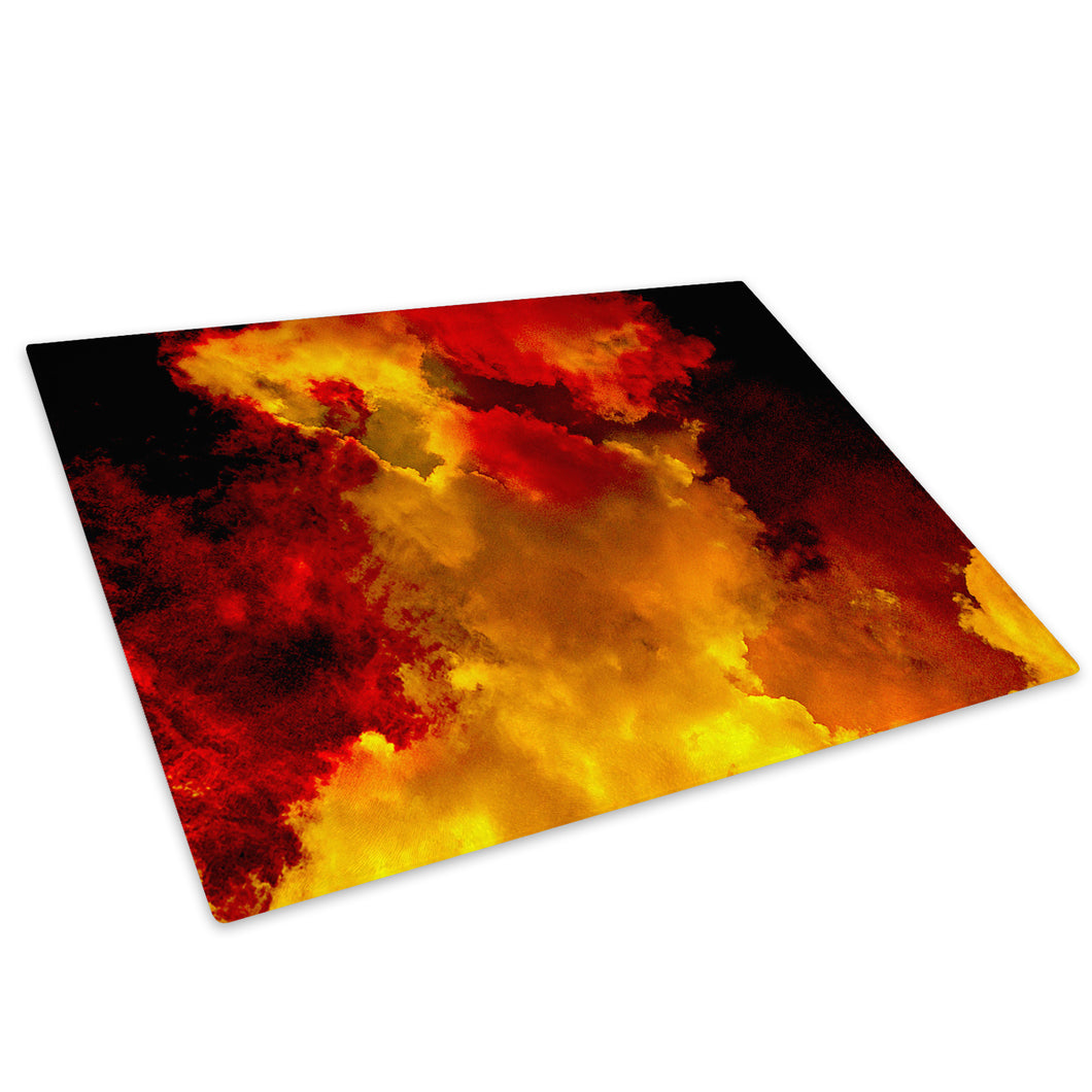 Orange Black Cool Glass Chopping Board Kitchen Worktop Saver Protector - AB1647-Abstract Chopping Board-WhatsOnYourWall
