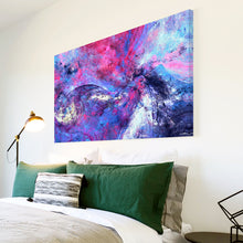 AB1659A Framed Canvas Print Colourful Modern Abstract Wall Art - blue texture paint-Canvas Print-WhatsOnYourWall