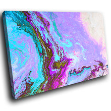 AB1662A Framed Canvas Print Colourful Modern Abstract Wall Art - pink blue textured paint-Canvas Print-WhatsOnYourWall