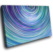 AB1663A Framed Canvas Print Colourful Modern Abstract Wall Art - blue twirl contemporary-Canvas Print-WhatsOnYourWall