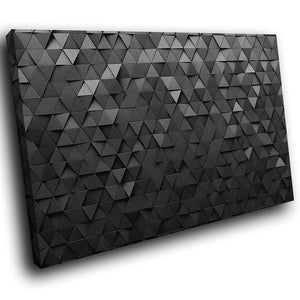 AB1666A Framed Canvas Print Colourful Modern Abstract Wall Art -  geometric black triangles - WhatsOnYourWall