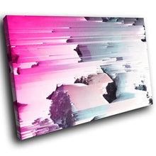 AB1678A Framed Canvas Print Colourful Modern Abstract Wall Art - pink blue speed surreal-Canvas Print-WhatsOnYourWall