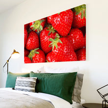 AB168 Framed Canvas Print Colourful Modern Abstract Wall Art - Red Strawberry Fruit-Canvas Print-WhatsOnYourWall