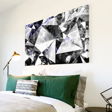 AB1692A Framed Canvas Print Colourful Modern Abstract Wall Art - black and white Diamond Pattern-Canvas Print-WhatsOnYourWall