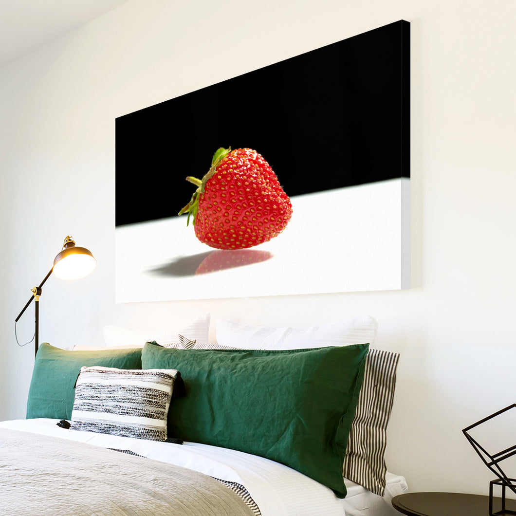 AB169 Framed Canvas Print Colourful Modern Abstract Wall Art - Red Strawberry Fruit-Canvas Print-WhatsOnYourWall