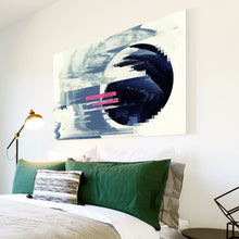 AB1704A Framed Canvas Print Colourful Modern Abstract Wall Art - blue black pink circle-Canvas Print-WhatsOnYourWall