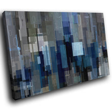 AB1708A Framed Canvas Print Colourful Modern Abstract Wall Art -  blue squares