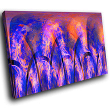 AB1710A Framed Canvas Print Colourful Modern Abstract Wall Art - blue orange-Canvas Print-WhatsOnYourWall