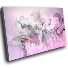 AB1718A Framed Canvas Print Colourful Modern Abstract Wall Art -  pink grunge paint - WhatsOnYourWall