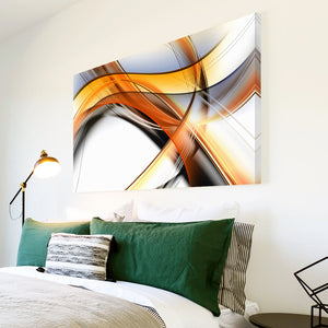 AB1721A Framed Canvas Print Colourful Modern Abstract Wall Art - surreal line-Canvas Print-WhatsOnYourWall
