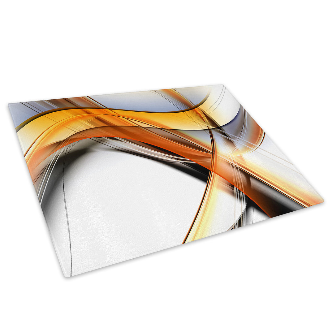Orange Black White Cool Glass Chopping Board Kitchen Worktop Saver Protector - AB1721-Abstract Chopping Board-WhatsOnYourWall