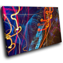 AB1728A Framed Canvas Print Colourful Modern Abstract Wall Art - blue orange light-Canvas Print-WhatsOnYourWall