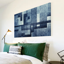 AB1730A Framed Canvas Print Colourful Modern Abstract Wall Art - blue geometric-Canvas Print-WhatsOnYourWall