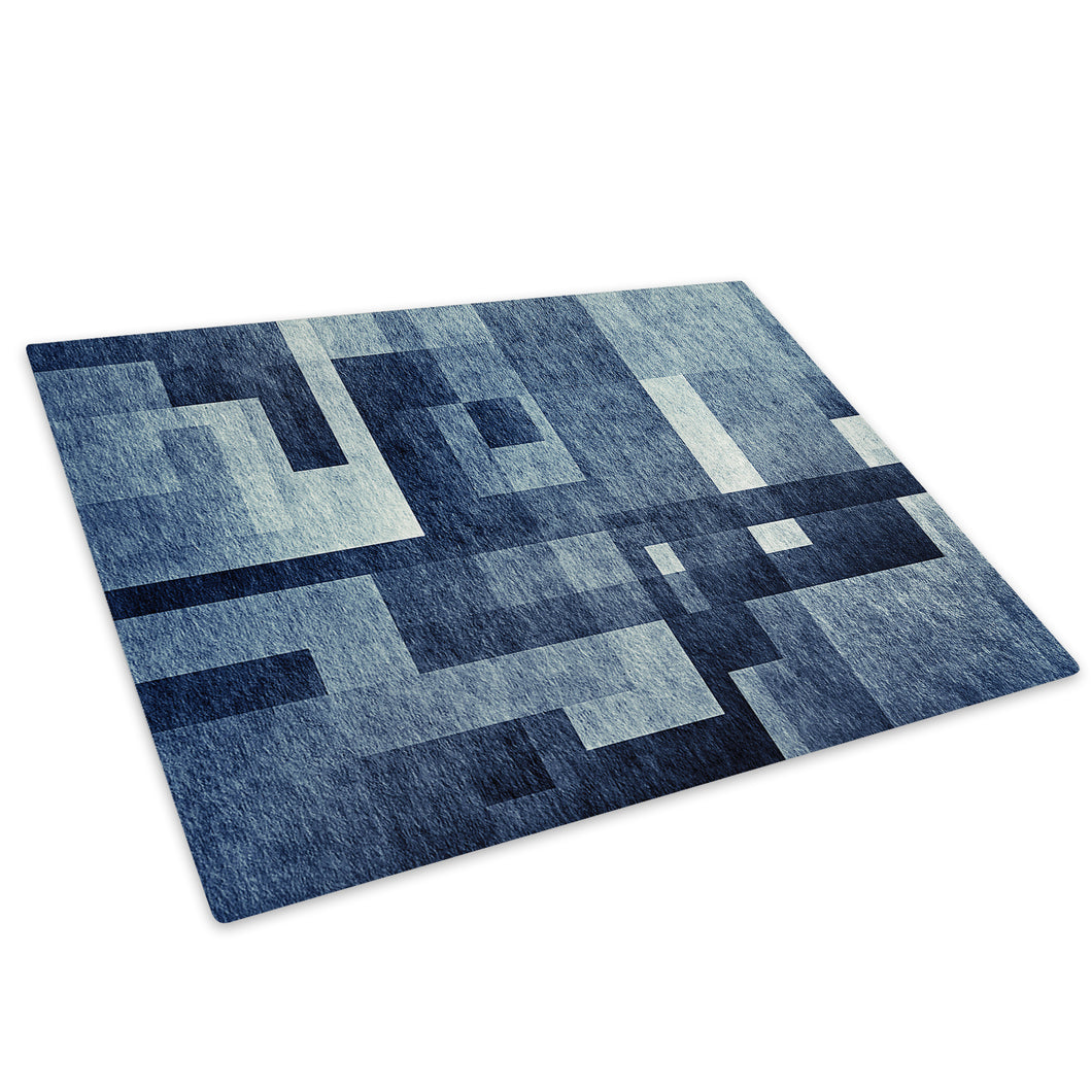Blue Grey Black Cool Glass Chopping Board Kitchen Worktop Saver Protector - AB1730-Abstract Chopping Board-WhatsOnYourWall