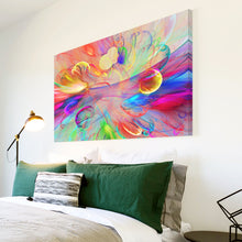 AB1737A Framed Canvas Print Colourful Modern Abstract Wall Art - multicolour psychedelic-Canvas Print-WhatsOnYourWall