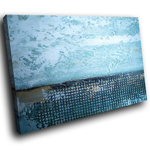 AB1739A Framed Canvas Print Colourful Modern Abstract Wall Art - blue grunge paint-Canvas Print-WhatsOnYourWall