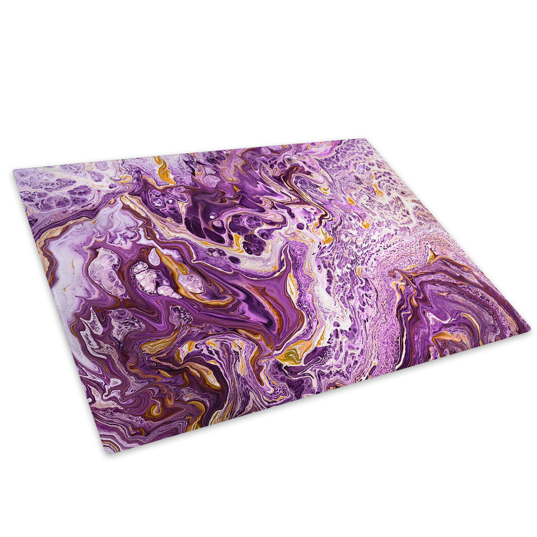 Purple White Yellow Glass Chopping Board Kitchen Worktop Saver Protector - AB1742-Abstract Chopping Board-WhatsOnYourWall
