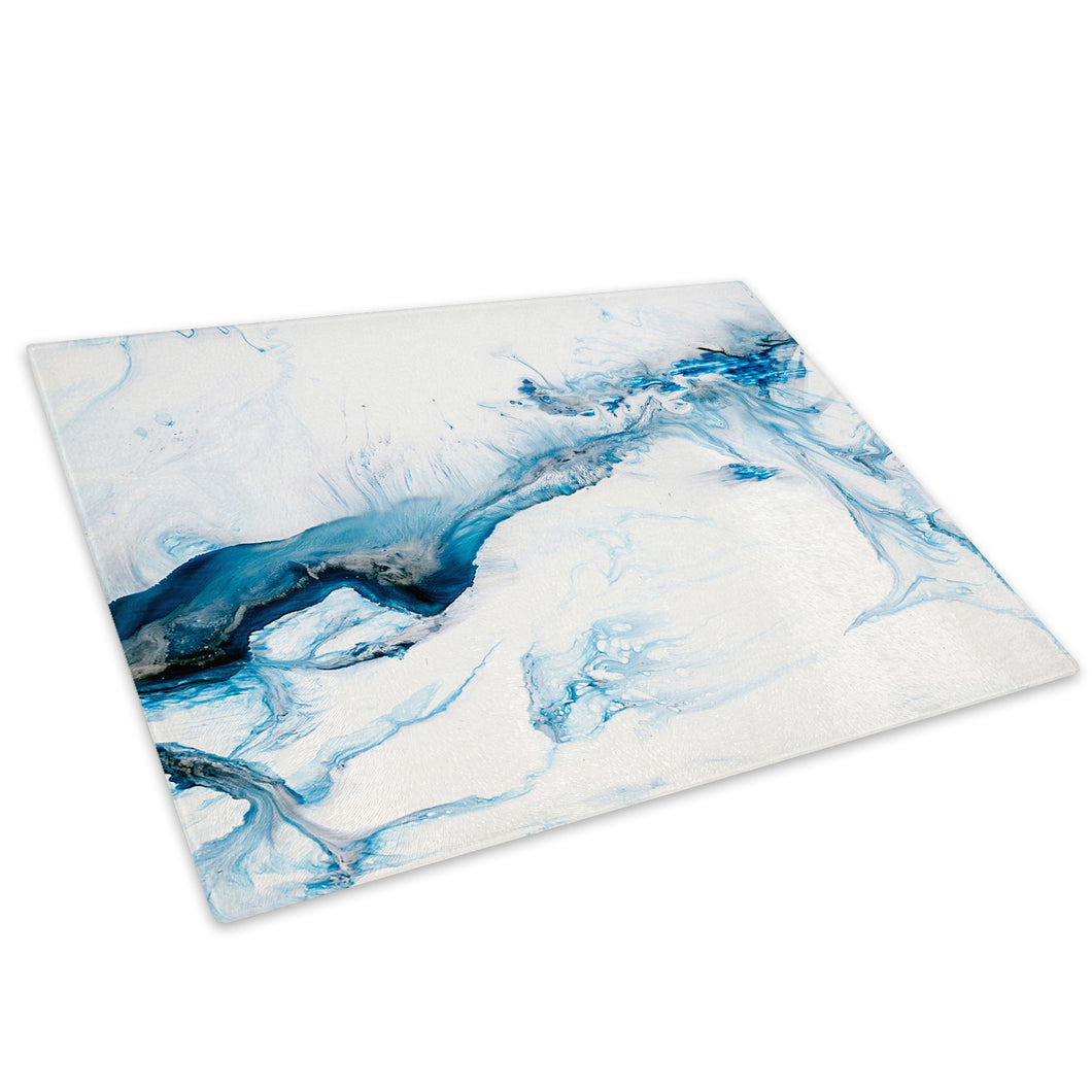 Blue Black White Grey Glass Chopping Board Kitchen Worktop Saver Protector - AB1744-Abstract Chopping Board-WhatsOnYourWall