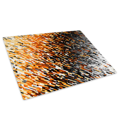 Orange Black White Glass Chopping Board Kitchen Worktop Saver Protector - AB1756-Abstract Chopping Board-WhatsOnYourWall