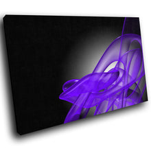 AB176 Framed Canvas Print Colourful Modern Abstract Wall Art - Purple Black Wave-Canvas Print-WhatsOnYourWall