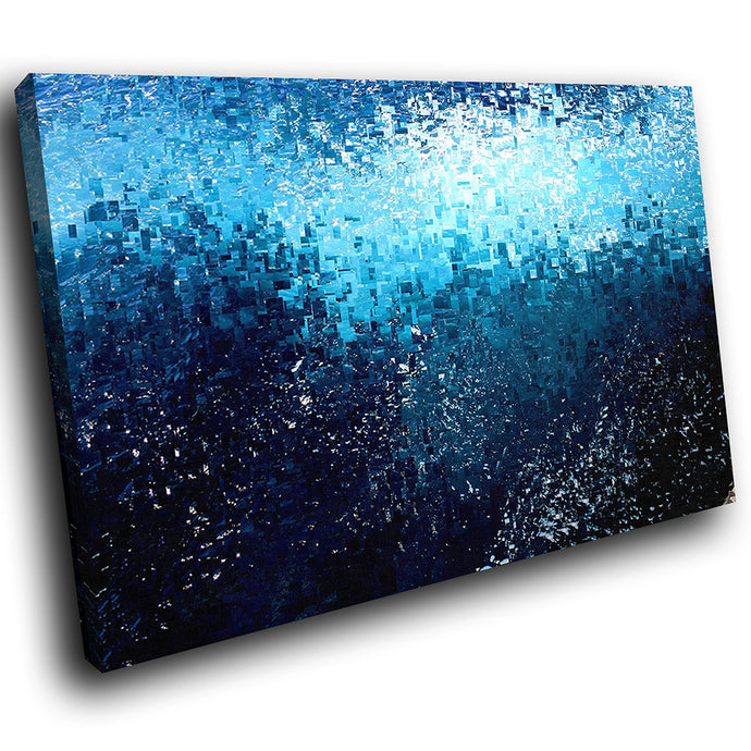 AB1772A Framed Canvas Print Colourful Modern Abstract Wall Art -  blue gradient