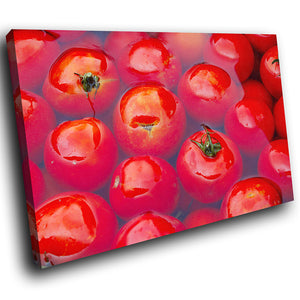 AB1774A Framed Canvas Print Colourful Modern Abstract Wall Art -  red water tomato fruit