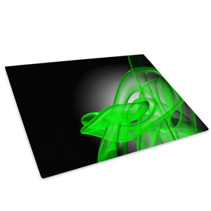 Green Black Wave Cool Glass Chopping Board Kitchen Worktop Saver Protector - AB180-Abstract Chopping Board-WhatsOnYourWall