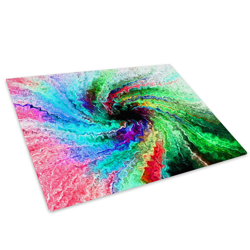 Colourful Retro Cool Glass Chopping Board Kitchen Worktop Saver Protector - AB183-Abstract Chopping Board-WhatsOnYourWall