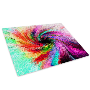 Colourful Retro Cool Glass Chopping Board Kitchen Worktop Saver Protector - AB184-Abstract Chopping Board-WhatsOnYourWall