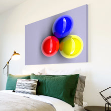 AB185 Framed Canvas Print Colourful Modern Abstract Wall Art - Red Yellow Blue Balls-Canvas Print-WhatsOnYourWall