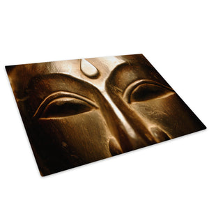 Bronze Buddha Cool Glass Chopping Board Kitchen Worktop Saver Protector - AB187-Abstract Chopping Board-WhatsOnYourWall