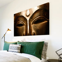 AB187 Framed Canvas Print Colourful Modern Abstract Wall Art - Bronze Buddha Cool-Canvas Print-WhatsOnYourWall