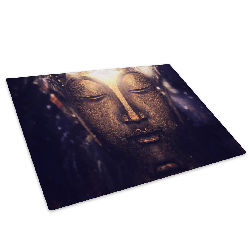 Buddha Head Cool Glass Chopping Board Kitchen Worktop Saver Protector - AB196-Abstract Chopping Board-WhatsOnYourWall