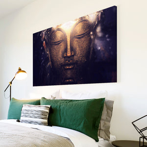 AB196 Framed Canvas Print Colourful Modern Abstract Wall Art - Buddha Head Cool-Canvas Print-WhatsOnYourWall