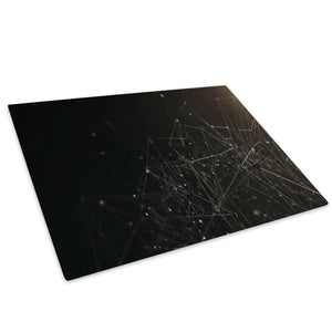 Black White Geometric Glass Chopping Board Kitchen Worktop Saver Protector - AB199-Abstract Chopping Board-WhatsOnYourWall