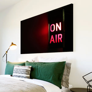 AB206 Framed Canvas Print Colourful Modern Abstract Wall Art - Red On Air Sign Cool-Canvas Print-WhatsOnYourWall