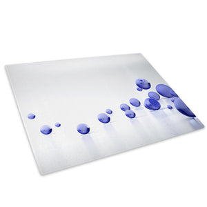 Blue Grey Circle Cool Glass Chopping Board Kitchen Worktop Saver Protector - AB207-Abstract Chopping Board-WhatsOnYourWall