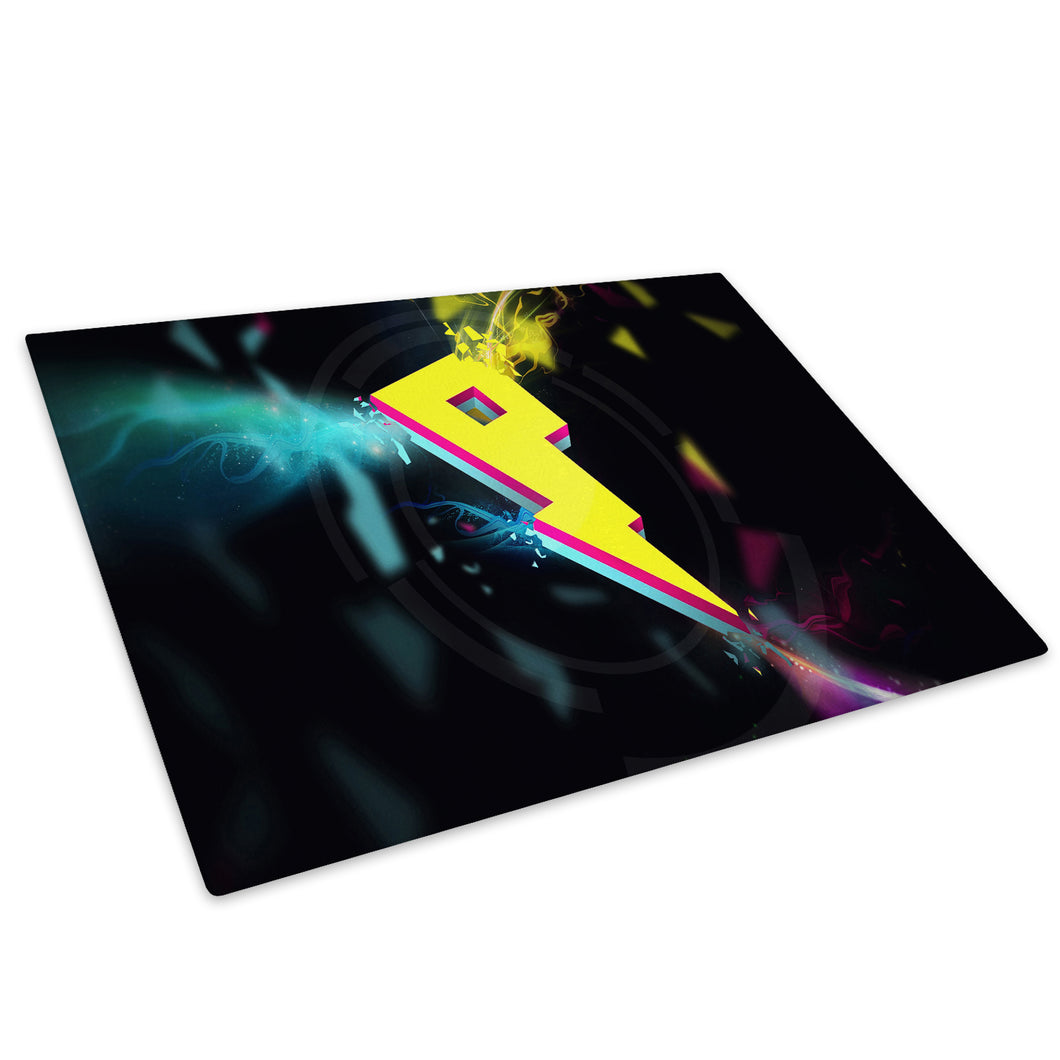 Yellow Pink Blue Cool Glass Chopping Board Kitchen Worktop Saver Protector - AB211-Abstract Chopping Board-WhatsOnYourWall