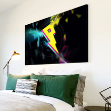 AB211 Framed Canvas Print Colourful Modern Abstract Wall Art - Yellow Pink Blue Cool-Canvas Print-WhatsOnYourWall