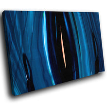 AB221 Framed Canvas Print Colourful Modern Abstract Wall Art - Blue Black Pink Cool-Canvas Print-WhatsOnYourWall