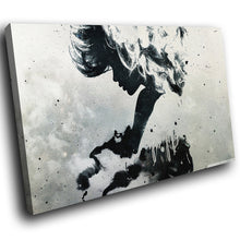 AB224 Framed Canvas Print Colourful Modern Abstract Wall Art - Black White Grunge-Canvas Print-WhatsOnYourWall