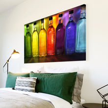 AB245 Framed Canvas Print Colourful Modern Abstract Wall Art - Colourful Cool Funky-Canvas Print-WhatsOnYourWall
