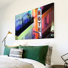 AB247 Framed Canvas Print Colourful Modern Abstract Wall Art -  Blue Red Hotel Cool