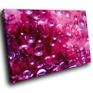 AB248 Framed Canvas Print Colourful Modern Abstract Wall Art - Pink Bubble Cool-Canvas Print-WhatsOnYourWall