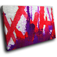 AB250 Framed Canvas Print Colourful Modern Abstract Wall Art - Red Purple White Cool-Canvas Print-WhatsOnYourWall