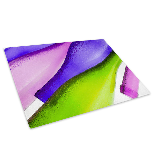 Pink Purple Bottle Glass Chopping Board Kitchen Worktop Saver Protector - AB251-Abstract Chopping Board-WhatsOnYourWall