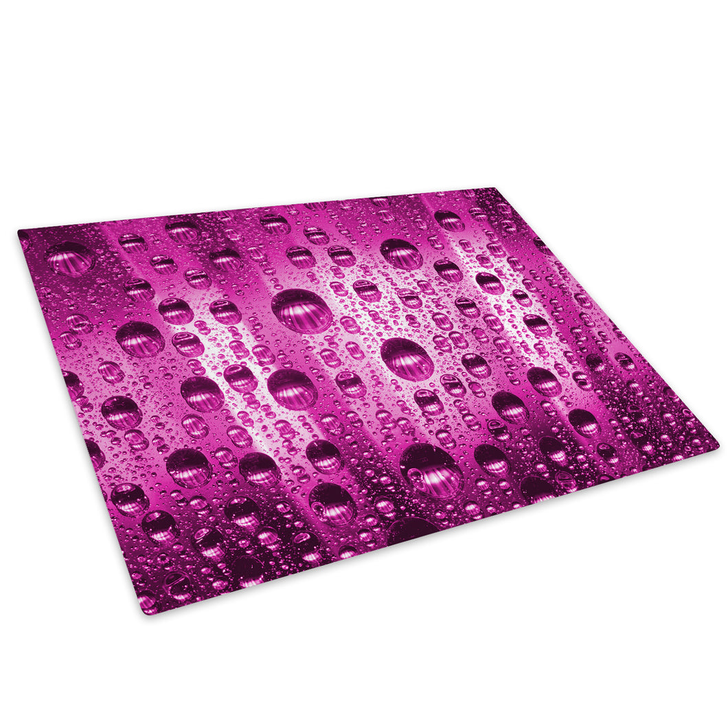 Pink Bubble Cool Glass Chopping Board Kitchen Worktop Saver Protector - AB252-Abstract Chopping Board-WhatsOnYourWall